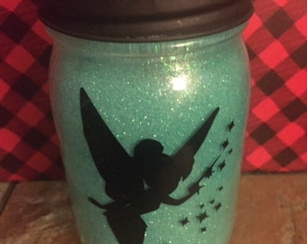 Tinkerbell Jar Light, Mason Jar Light,  Mason Jar, Lights, Personalized Jar Light