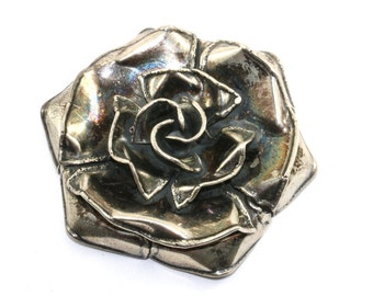 Vintage Rose Flower Shape Pin/Brooch 925 Sterling BB 97