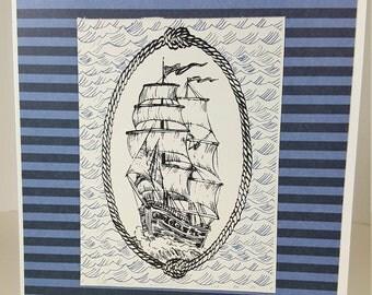 Birthday Card - Masculine Birthday Card - Nautical Birthday Card