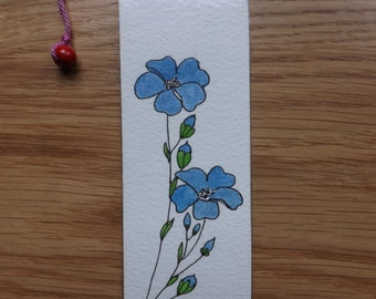 Original double-sided watercolor bookmark