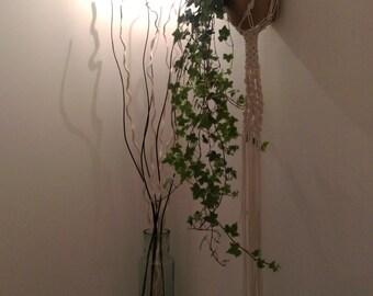 Driftwood wall hanging macrame planter / Driftwood Macrame Wall hanging