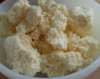 SHEA BUTTER - Unrefined - 6 oz. Raw shea butter for lip balm, lotion, soap, bath and body, DIY supplies