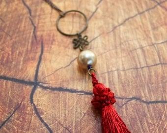 Handmade Boho Tassel Necklace Medium / One of a Kind