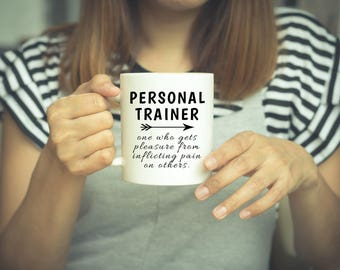 Personal Trainer, Trainer Gifts, Weightlifting, Fitness, Gift, Trainer Gift, Gift For Trainer, Workout Gift, Personal Trainer Mug, Gym, Mug