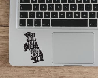 Harry Potter laptop decal,Hufflepuff Quote Vinyl Sticker, Hufflepuff Sticker Vinyl decal, Witchcraf Laptop Decal Vinyl Sticker DIY quote