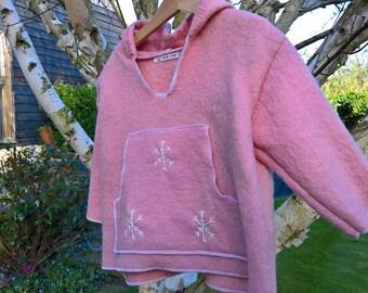 Pink Hoodie, pure wool