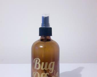 Bug Off Spray Bottle Vinyl Label - Essential Oil Bug Spray Bottle Label