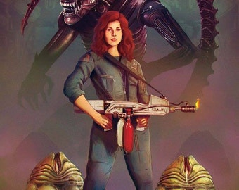 Alien Ripley Aliens Art A3 Limited Edition Print