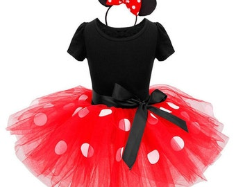 Minnie Mouse Princess party costume baby girls Tutu Dress