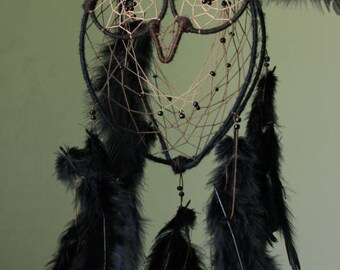Double- Ringed Feathery Owl Dreamcatcher