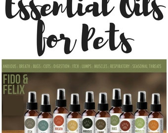 Essential Oils for Dogs and Cats!