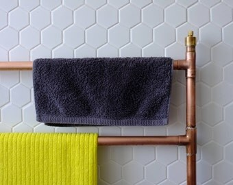Heated copper towel rail / radiator