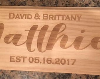 Wooden Wedding Sign - Wedding Gift