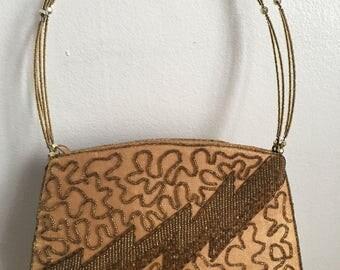 Vintage rare lightening bolt handbag clutch 1980