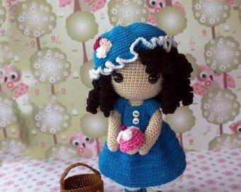 Crochet doll Anny will be picnic / crochet doll