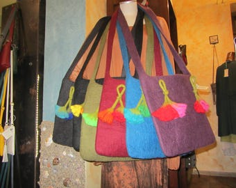 STOCK gift BAGS for wool-Nepali bag beautiful grandchildren, gift for her, very warm and sunny-gorgeous ethnic bag