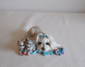 Special Sale Reduction........    A cute doggy and kittens ornament.