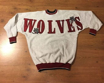 Vintage Chicago wolves hockey sweatshirt