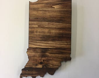 Indiana State Sign, Indiana wooden sign, Indiana wall art, Indiana sign, Indiana decor, Indiana