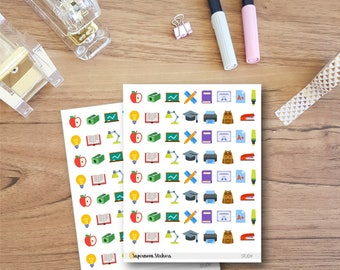 Study Icon Stickers || Planner Stickers