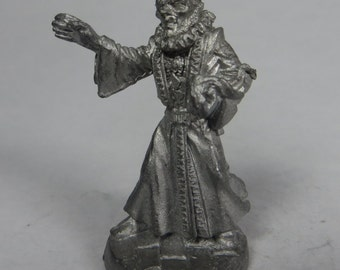 Dungeons and Dragons Miniature - DND - Male Munk - Unpainted - Vintage - RPG - Miniatures
