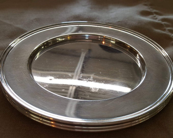 """Sterling Silver 6"""" Plates MFH M Fred Hirsch 1920-1945 American multiples available"""