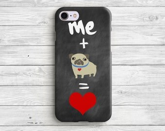 Love Pug Phone Case iPhone 7 Case Pug iPhone 6 Case iPhone 7 Plus Pug iPhone Case iPhone 6s Pug Case iPhone 6 Plus Case
