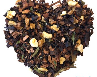 SUN DAZE. Organic herbal tea. Loose leaf tea. 2oz kraft bag.