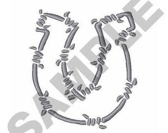 Barbed Wire Horseshoe - Machine Embroidery Design