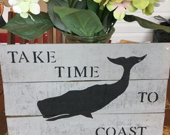 Pallet Art Black Whale Coastal Nautical