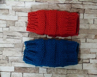 1 Pair Warmers Knitted, Fingerless mittens, two colors to choose from, knit Fingerless cable Gloves
