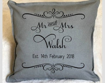 personalised cushion cover-personalised cushion-wedding-anniversary-wedding keepsake