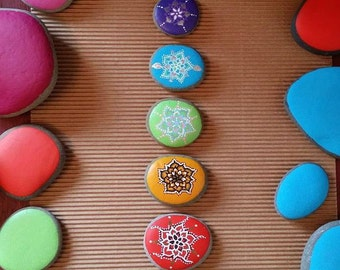 Chakra Painted Reiki Infused Stones