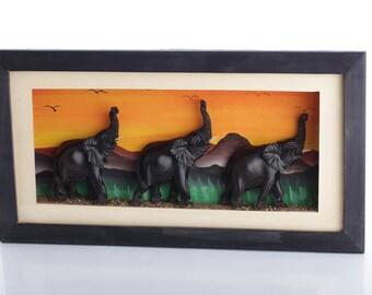 Framed Animal Sculpture