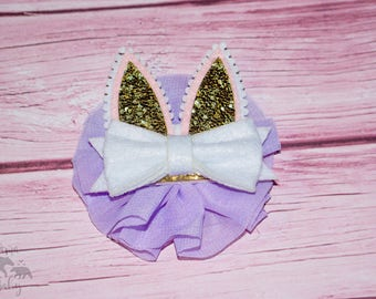 Gold, Pink, Lavender Bunny Ear Headband Baby Girl's Easter, Nylon, Elastic Headband