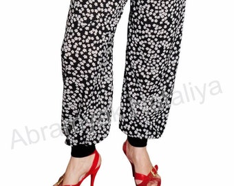 Chiffon pants Chiffon pants with elastic waist Black chiffon wide leg pants Chiffon pants black Black chiffon harem pants plus size