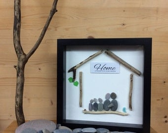 PebbleArt Home, moving house present, moving in gift, gift for mum, fathers day gift, wall art, gift for couple, xmas gift for family