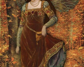 Autumn Fae.  Greetings card. Art cards. Romany Soup.