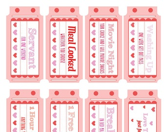 Love Coupons Printable Download