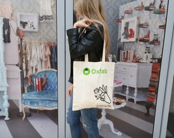 Oxfab Secondhand Rose tote shopping bag