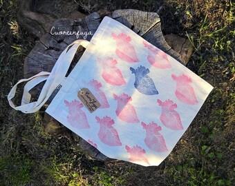 Shopper bag hearts