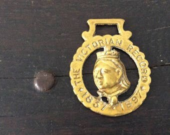 Queen Victoria Horse Brass / Royalty / The Victorian Record 1837 - 1897 / Farm / Country / Rustic / Bridle