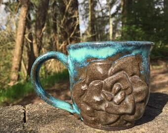 Chocolate Turquoise 12oz Mug