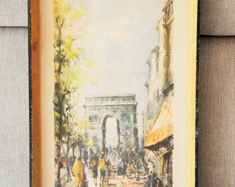 Lithography Davis Arch of triumph