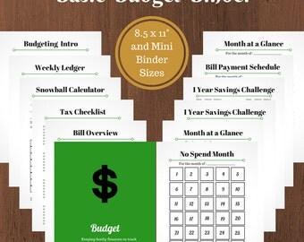 Basic Budget Printable