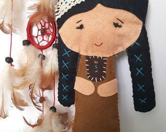 "Dolls ""Around the world""-India//Idea gift ideas//girls//collections//dolls//travel lovers//Pannolenci//felt"
