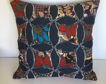 Applique patchwork decorative pillow