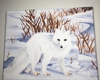 Arctic Fox Painting