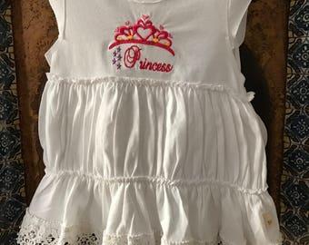 Girl's Princess Dress/ 100% Organic Cotton