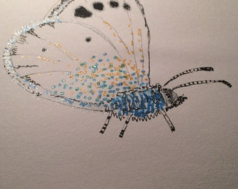 Sparkly butterfly print